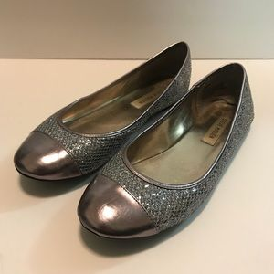 Steve Madden Shoes Glitter Slip on Ballet Flats